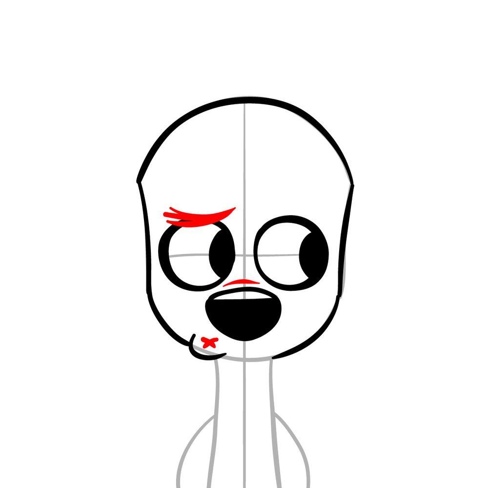 How to draw Dawkins Dalmatian - step 08