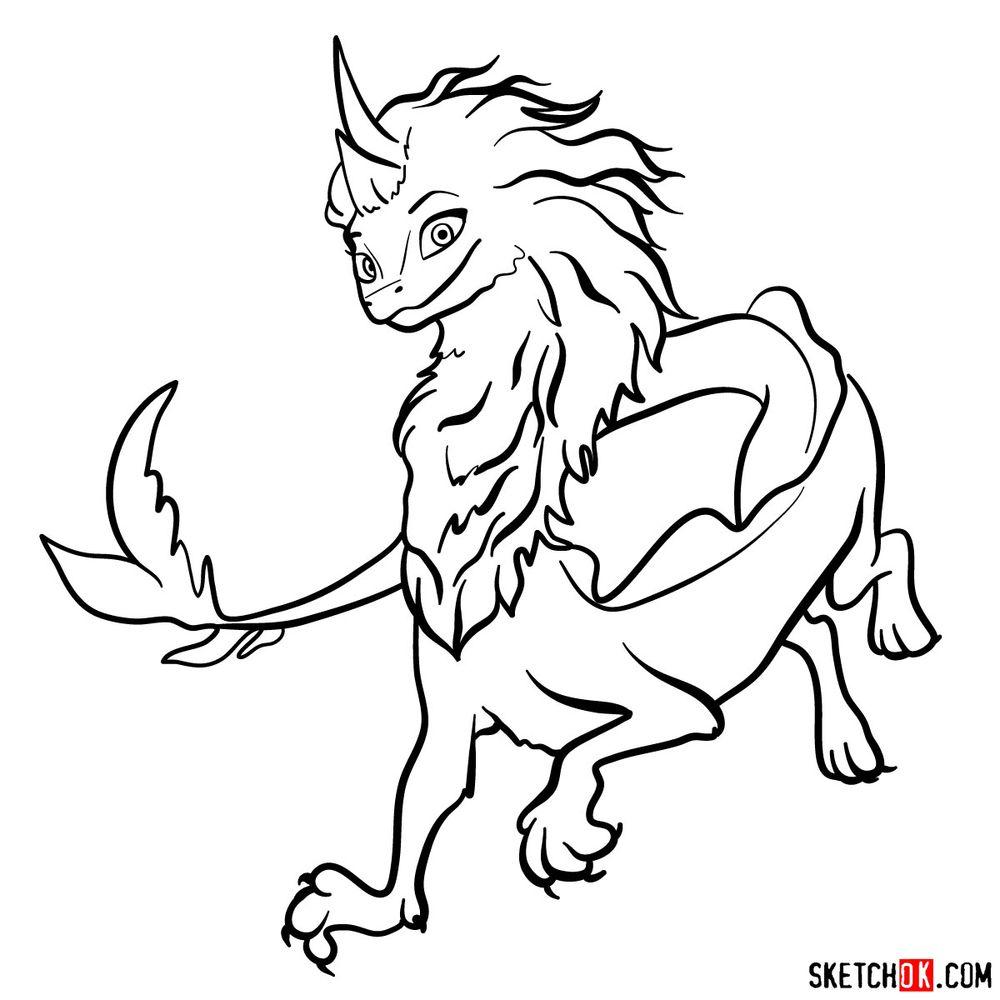 How to draw Sisu the Dragon