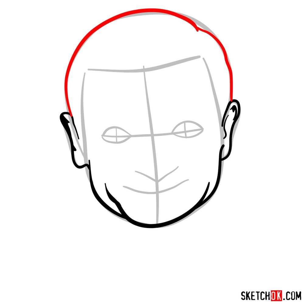 How to draw Mr. Bean - step 05