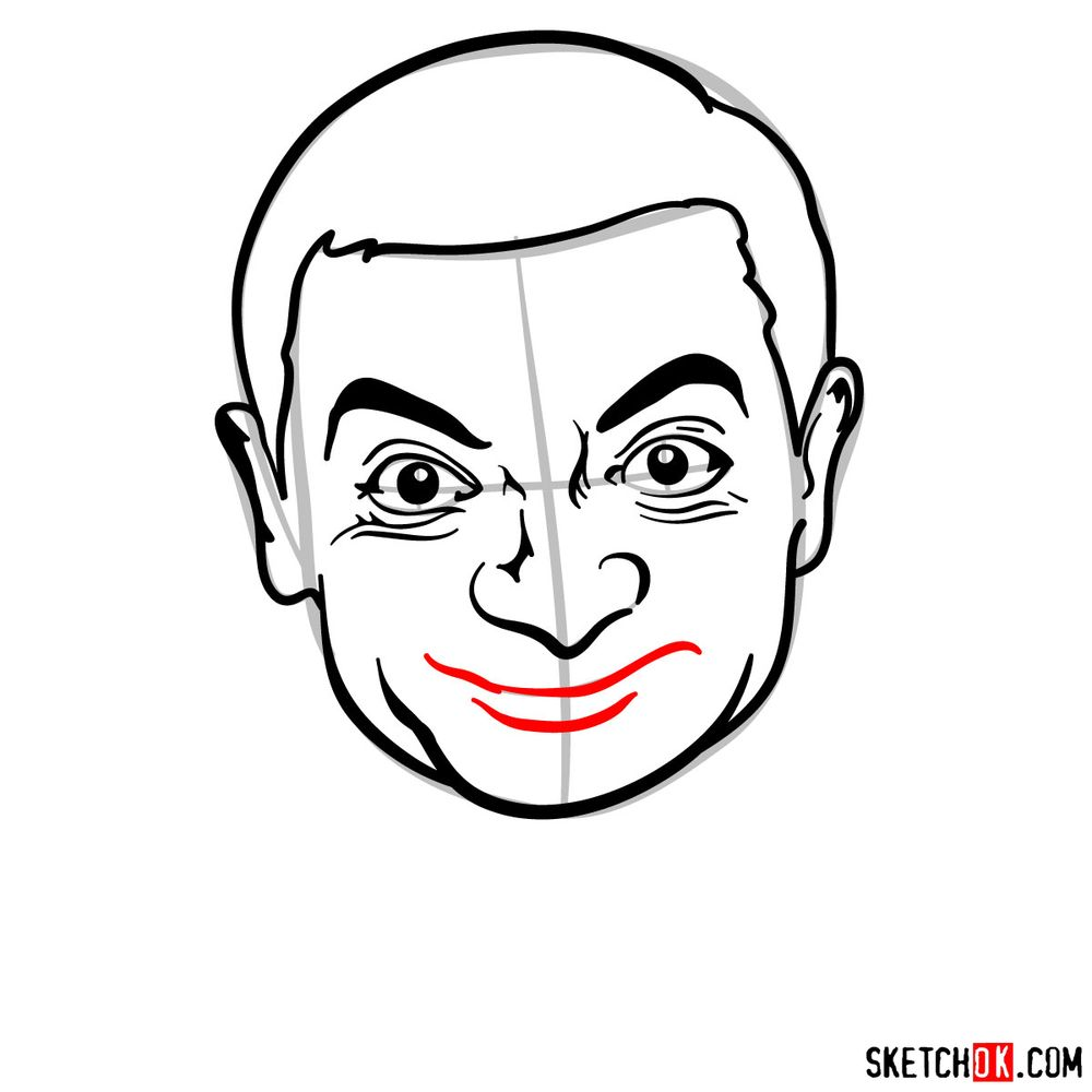 How to draw Mr. Bean - step 11
