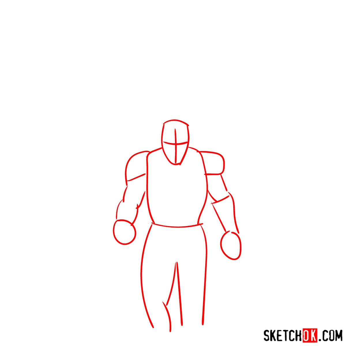 How to draw the Avengers Team - step 01
