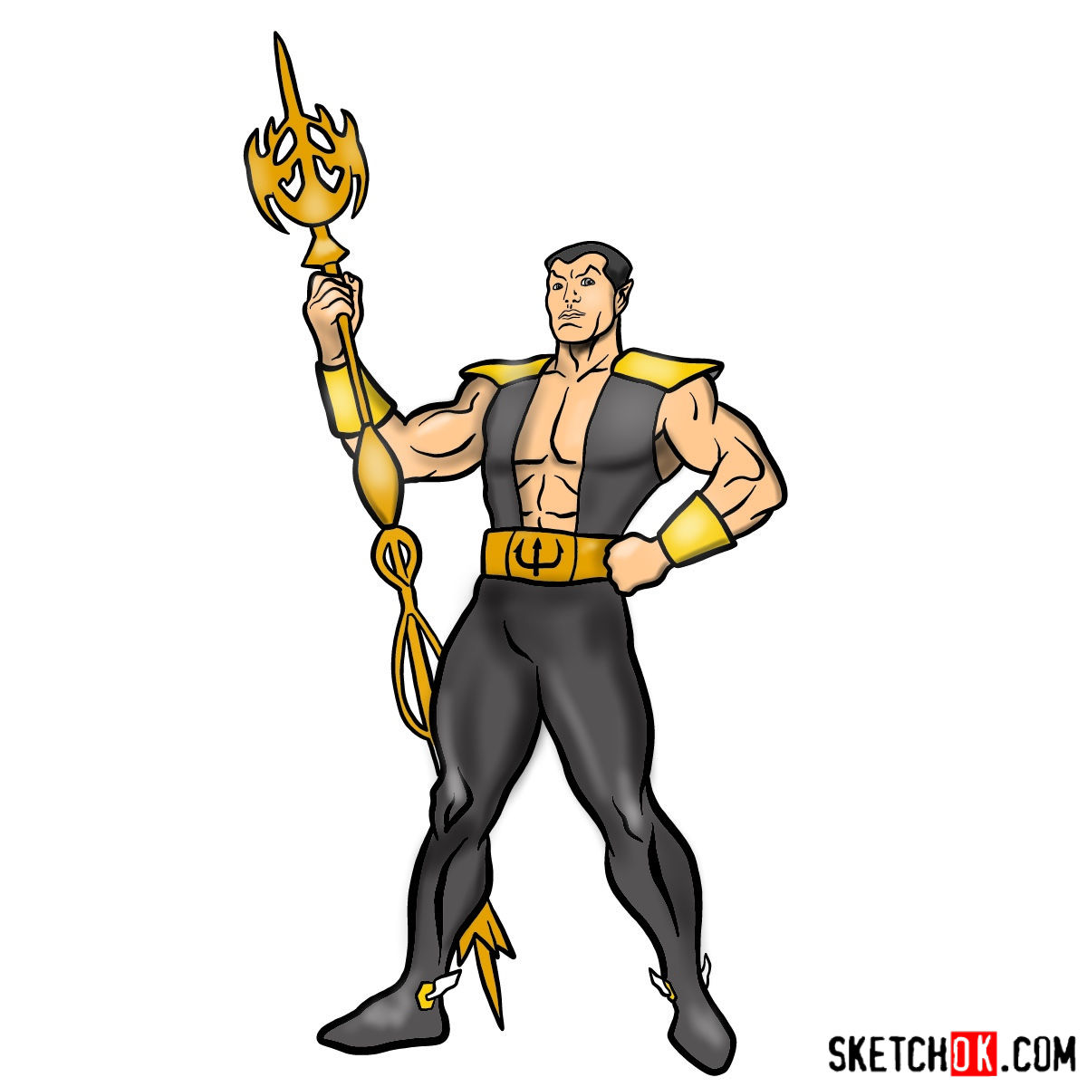 How to draw Namor the Sub-Mariner from Marvel Comics