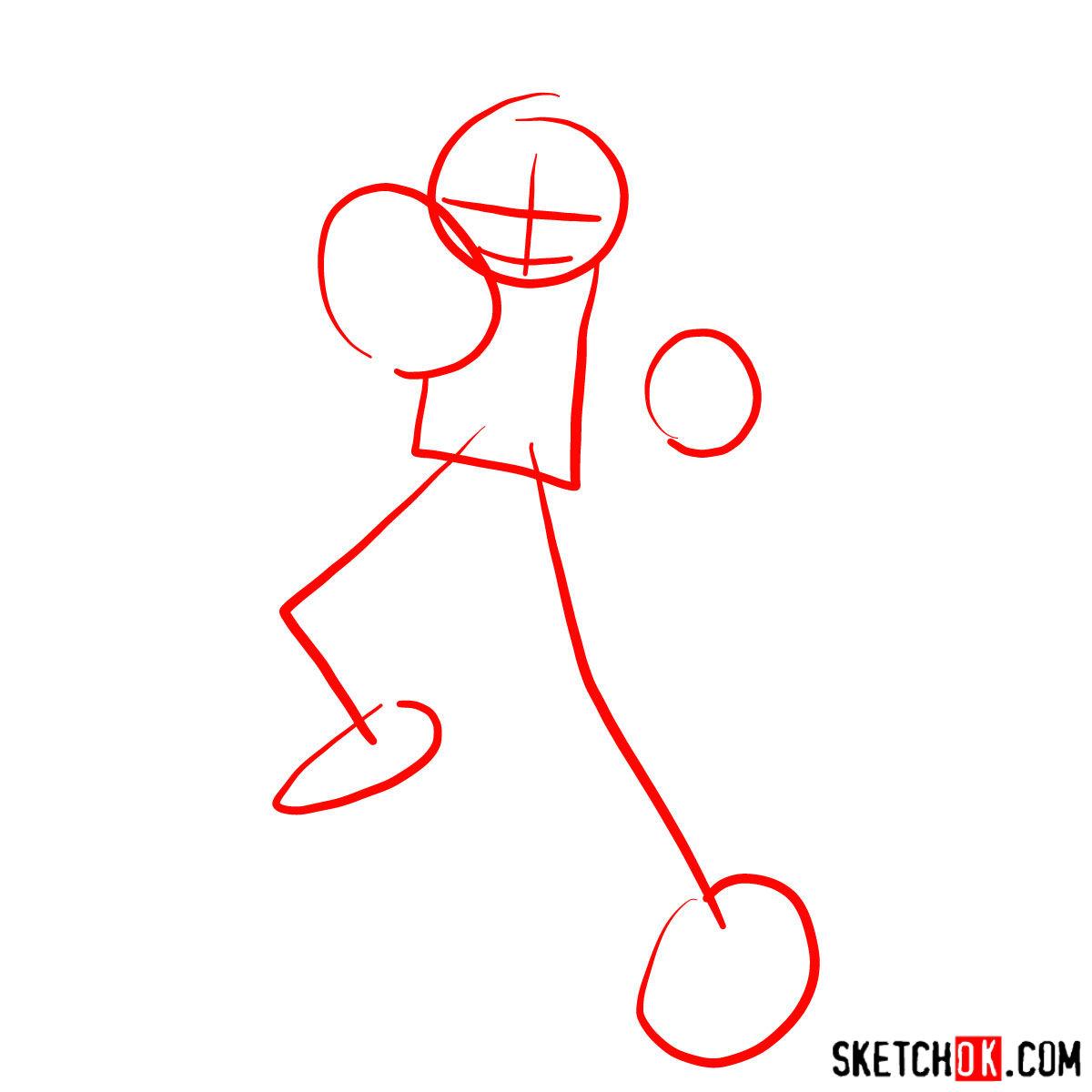 How to draw Scott Pilgrim - step 01