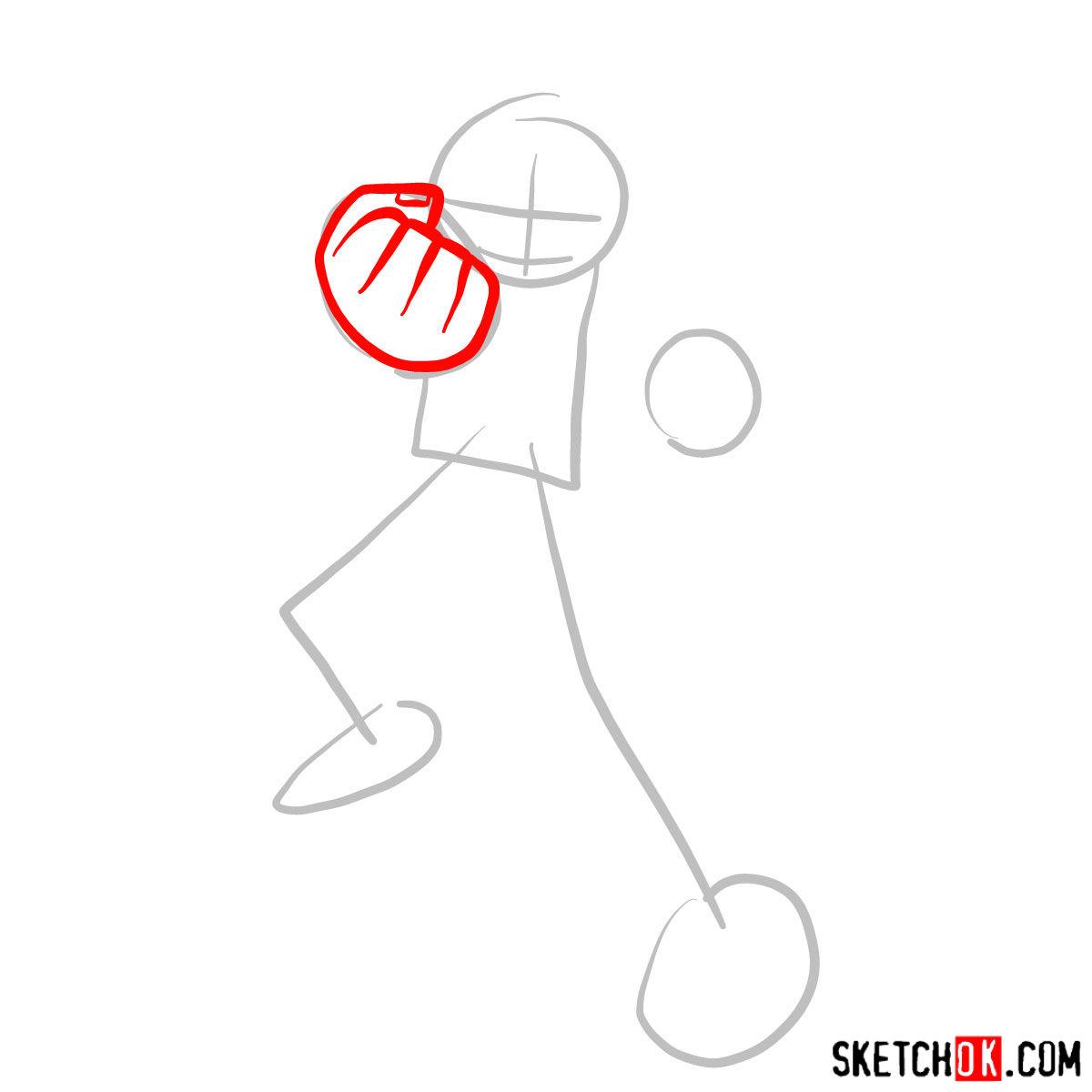 How to draw Scott Pilgrim - step 02