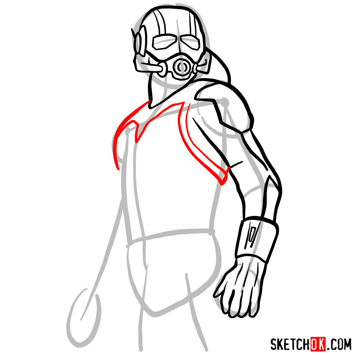how to draw ant man from 2015 film step by step drawing tutorials