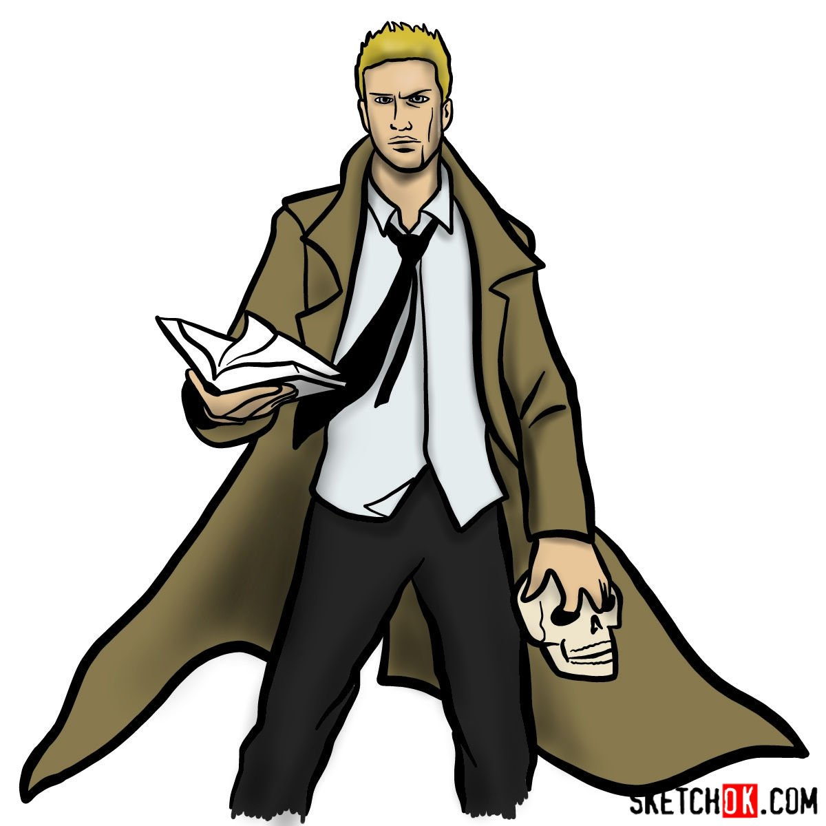 How to draw John Constantine