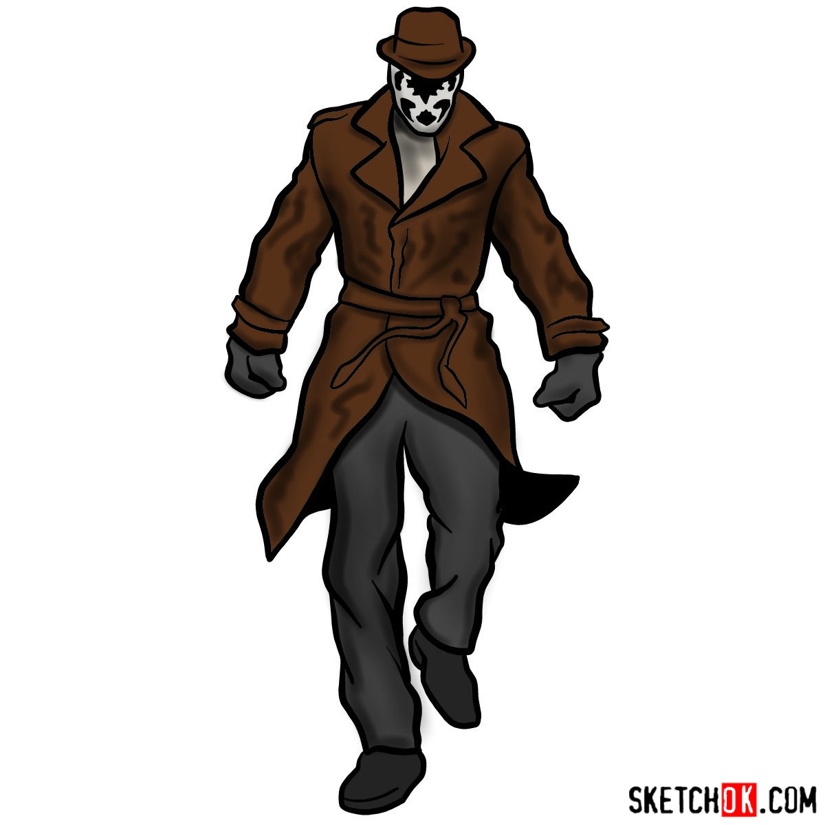 How to draw Rorschach from Watchmen