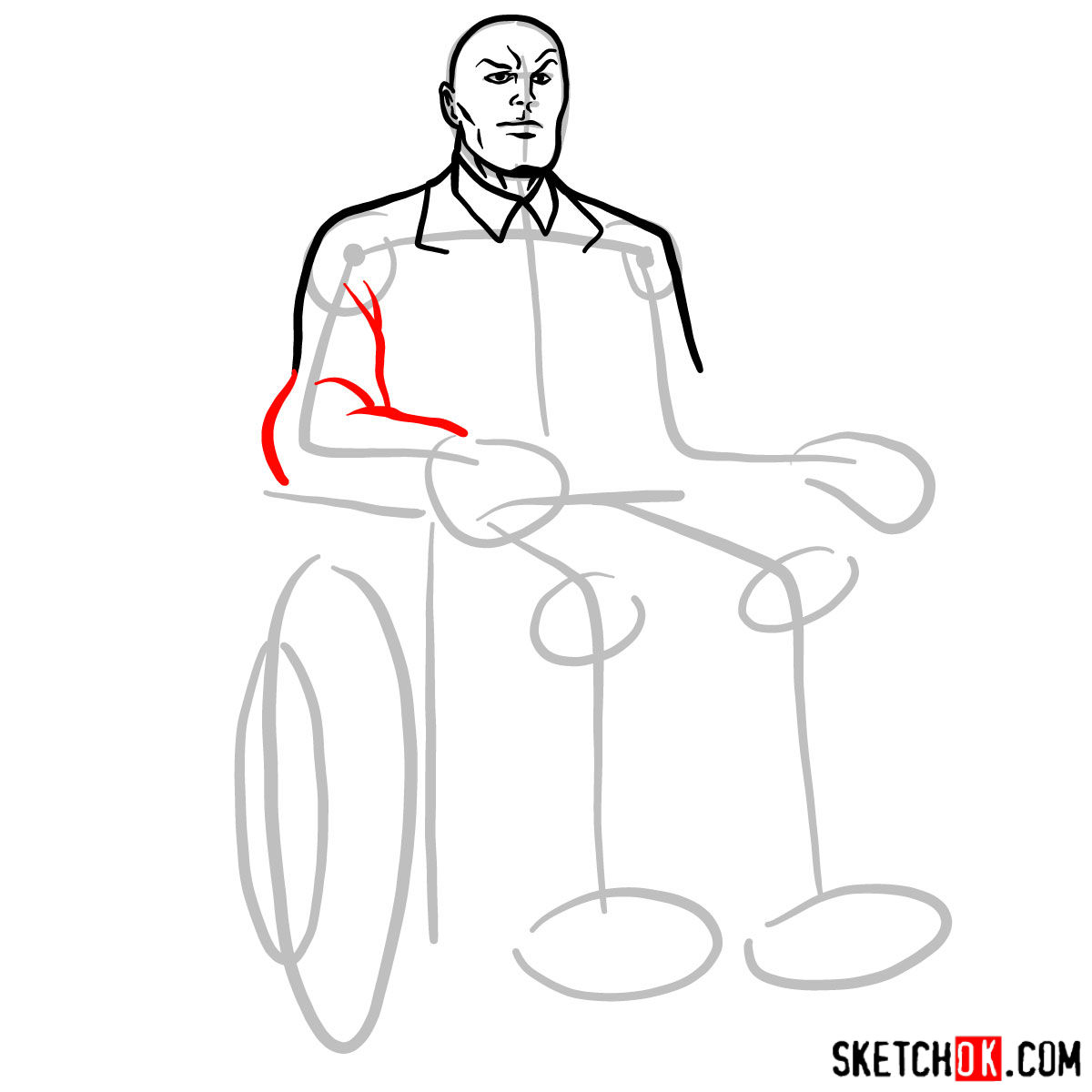How to draw Professor X - 