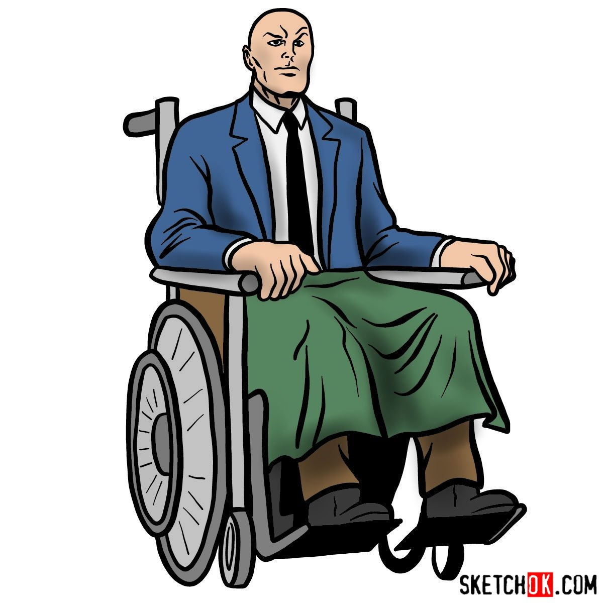 How to draw Professor X - coloring