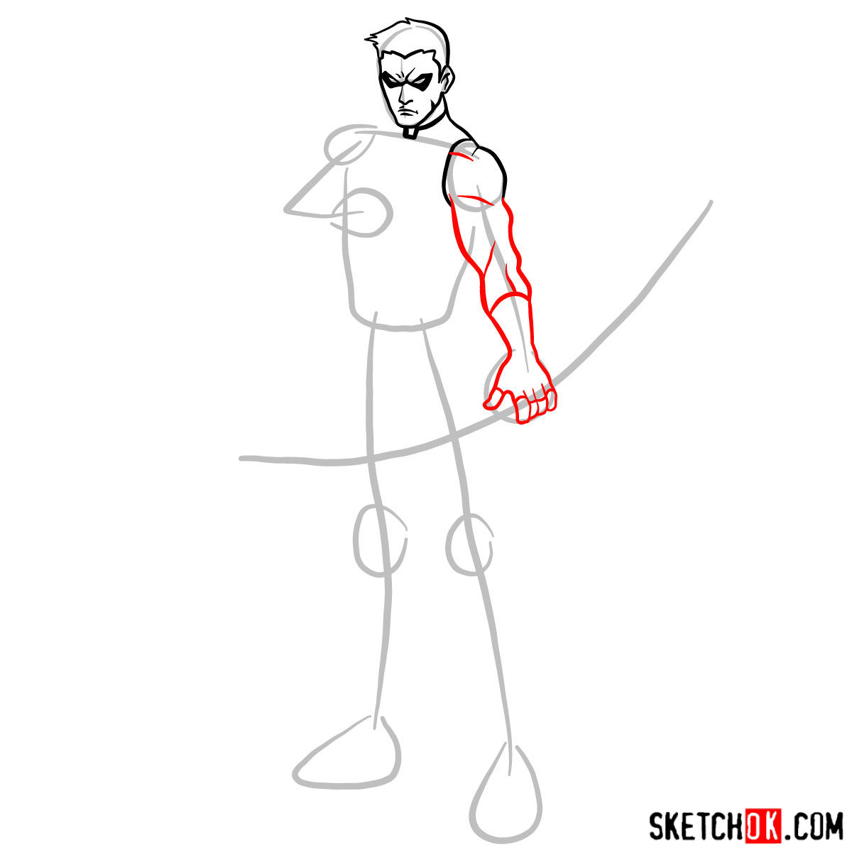 How to draw Roy Harper the Red Arrow (Speedy) - 