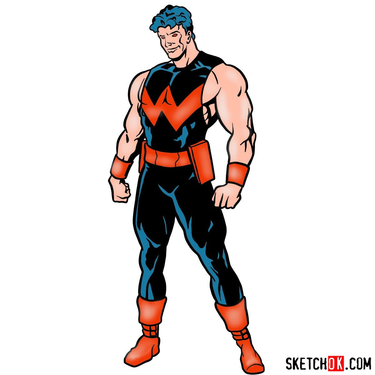 How to draw Marvel's Wonder Man