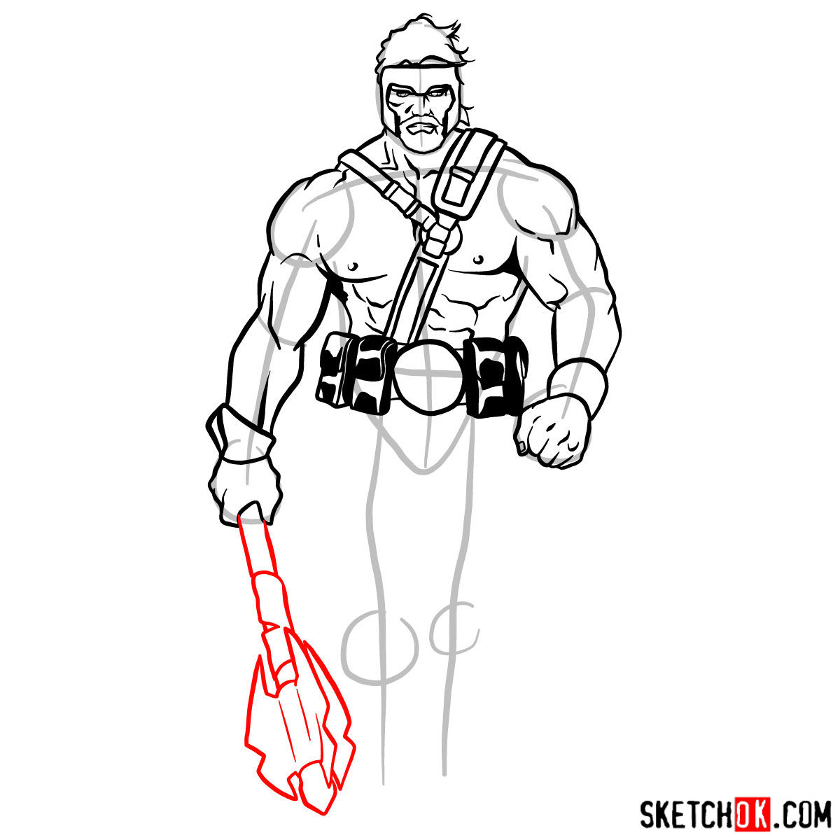 How to draw Hercules - Marvel Comics hero - step 10