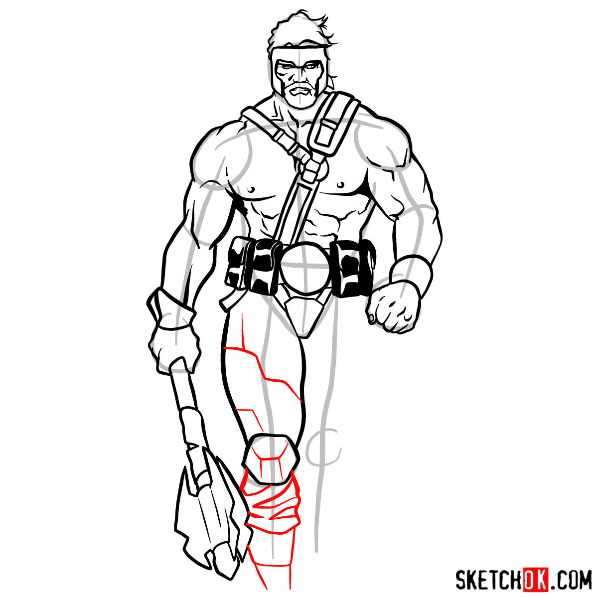 How to draw Hercules - Marvel Comics hero - step 12