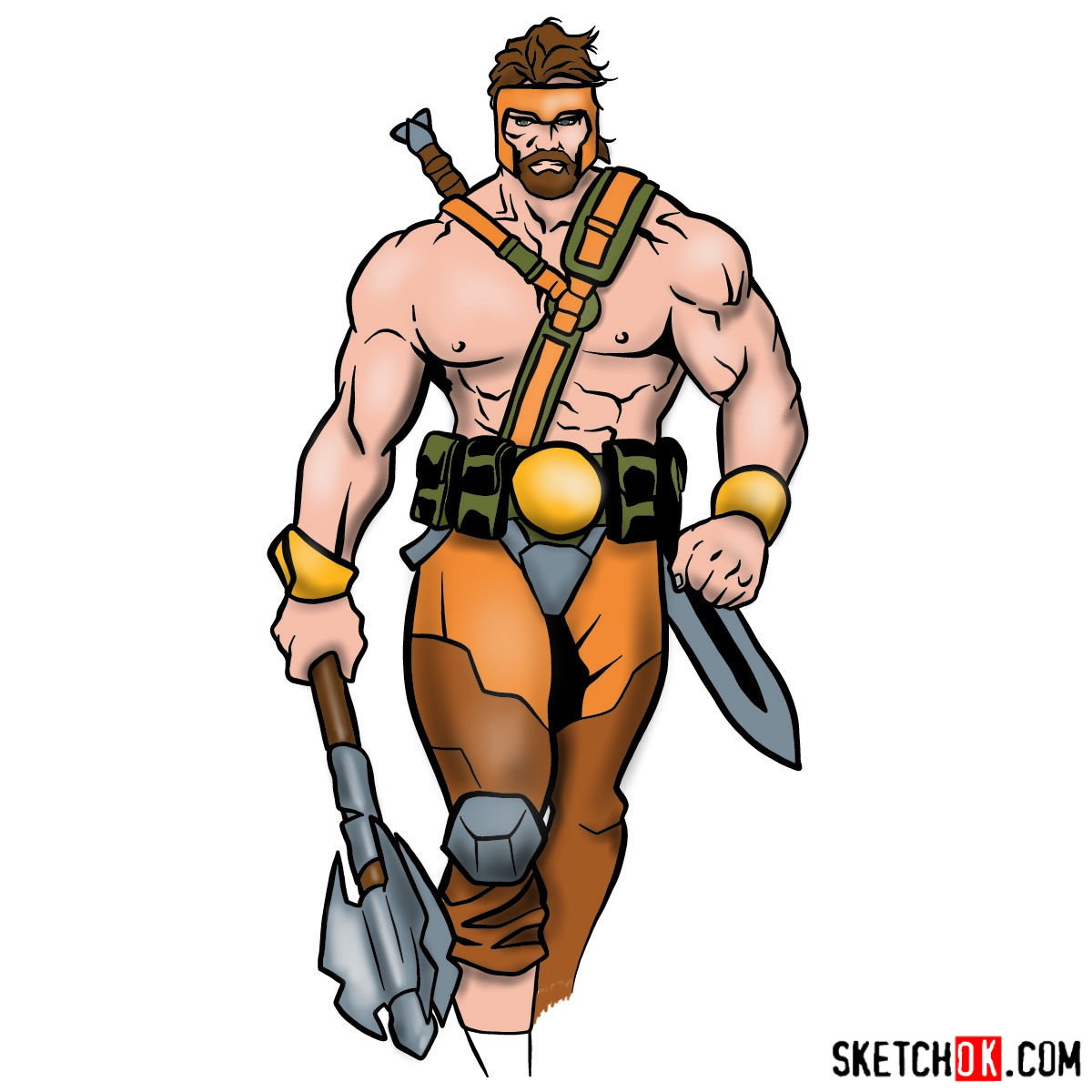 How to draw Hercules - Marvel Comics hero - coloring