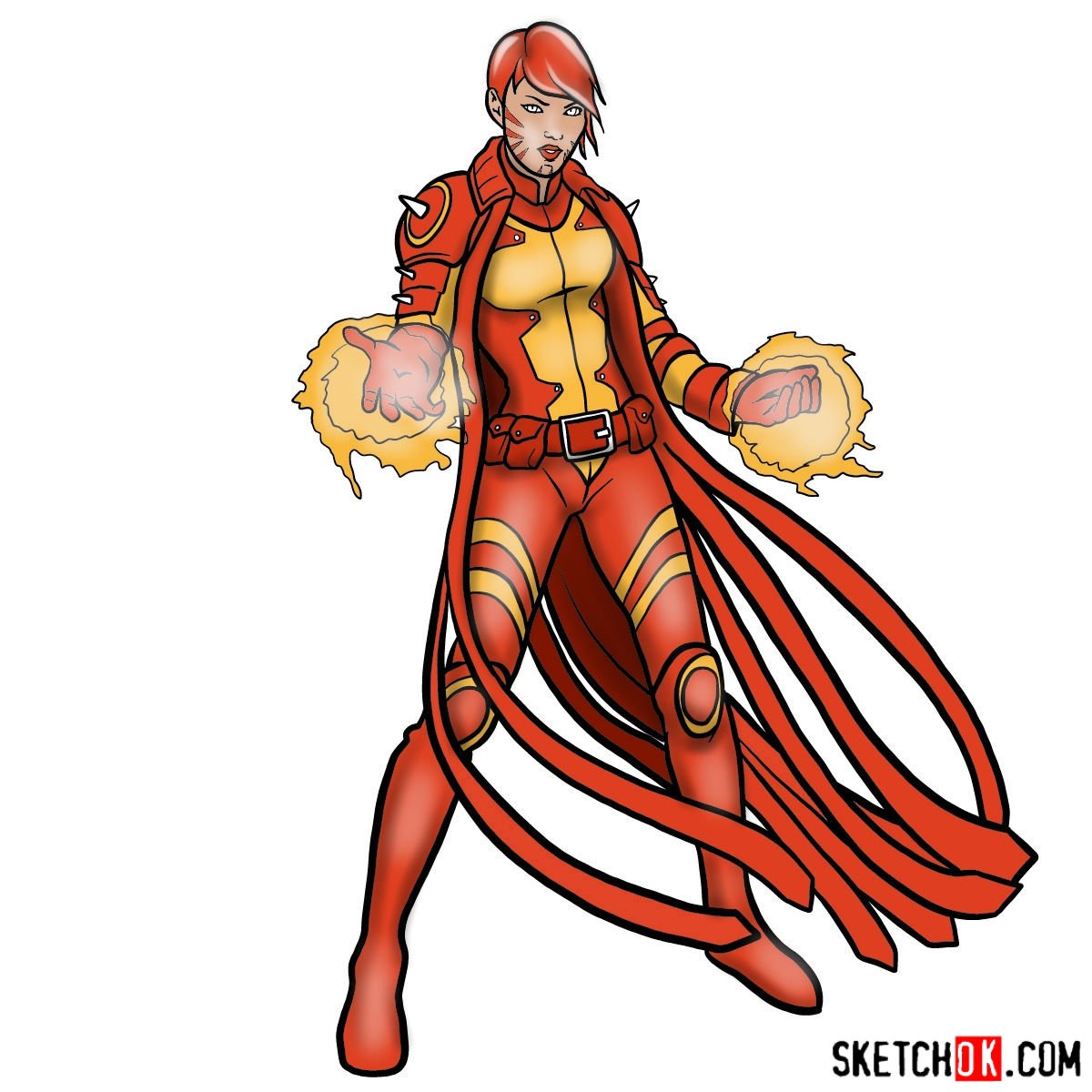 How to draw Rachel Summers the Phoenix mutant