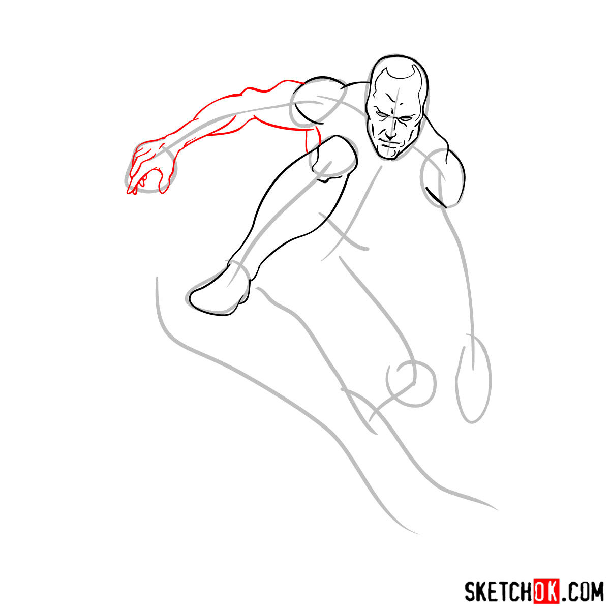 How to draw Iceman - step by step drawing tutorial - step 06