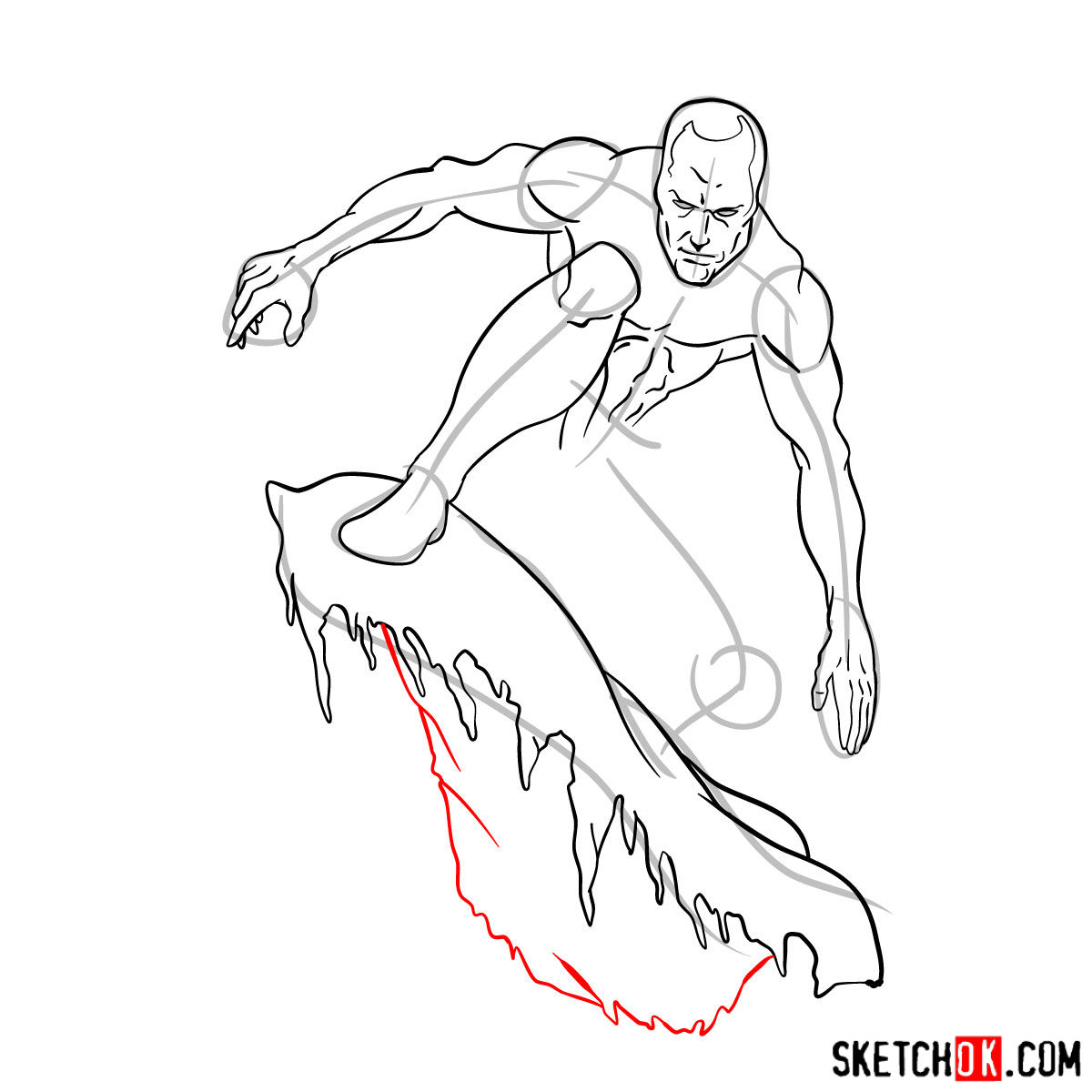 How to draw Iceman - step by step drawing tutorial - step 11