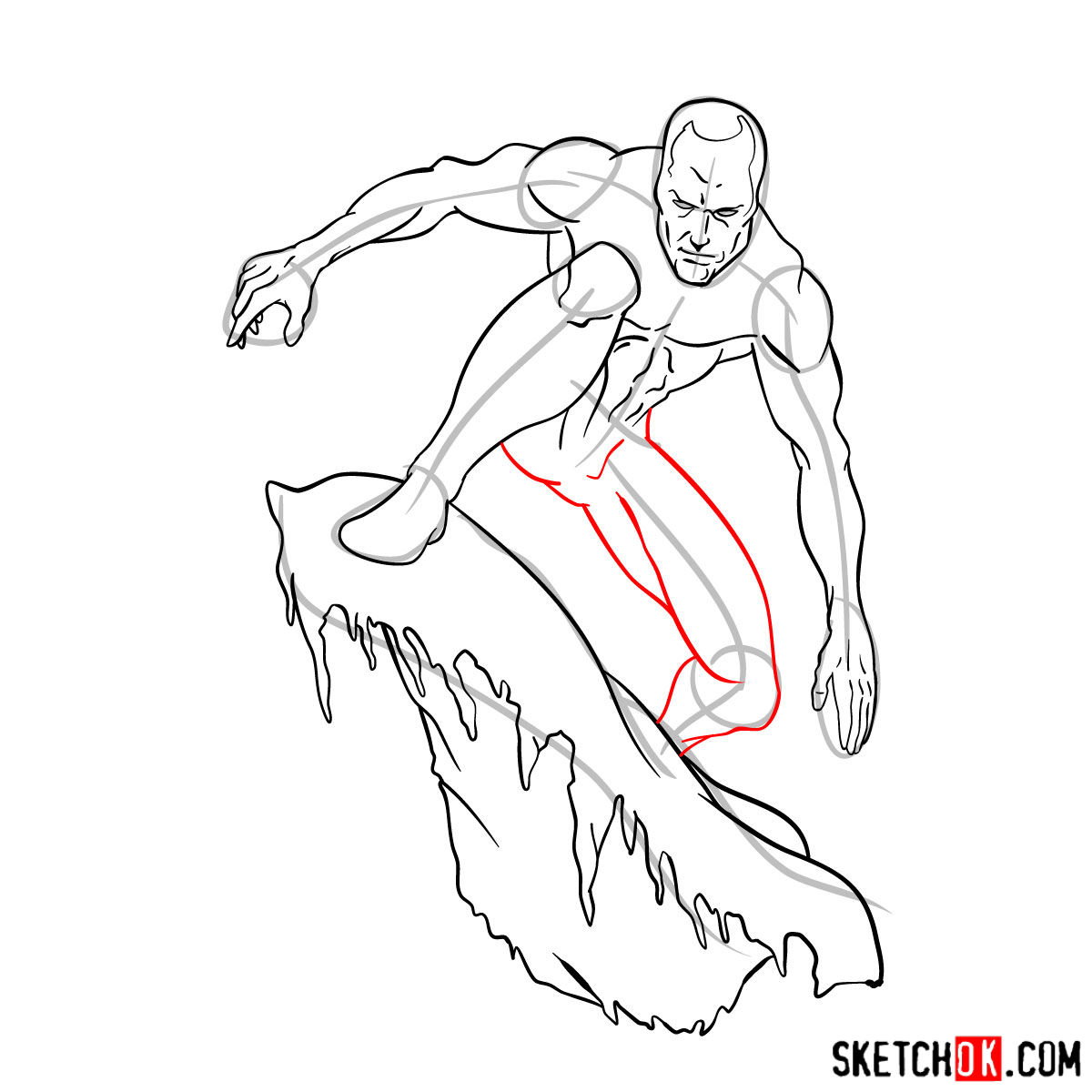 How to draw Iceman - step by step drawing tutorial - step 12