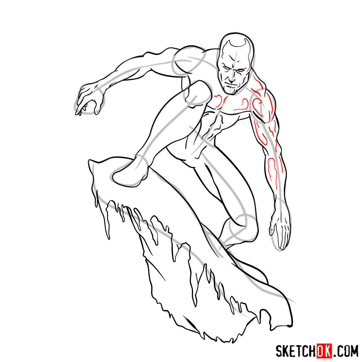 How to draw Iceman - step by step drawing tutorial - step 13