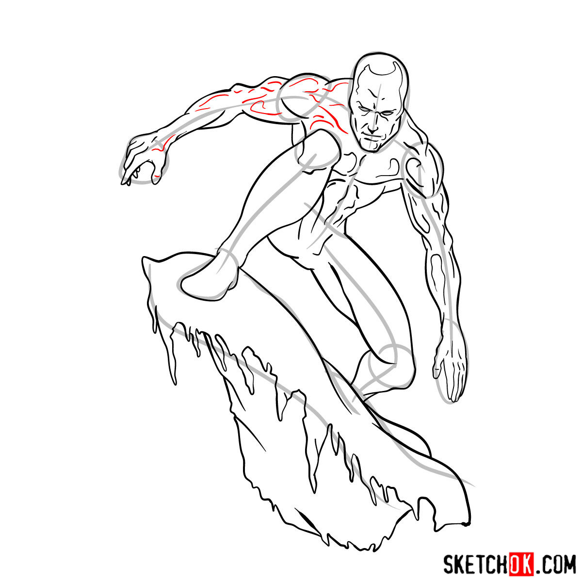 How to draw Iceman - step by step drawing tutorial - step 14