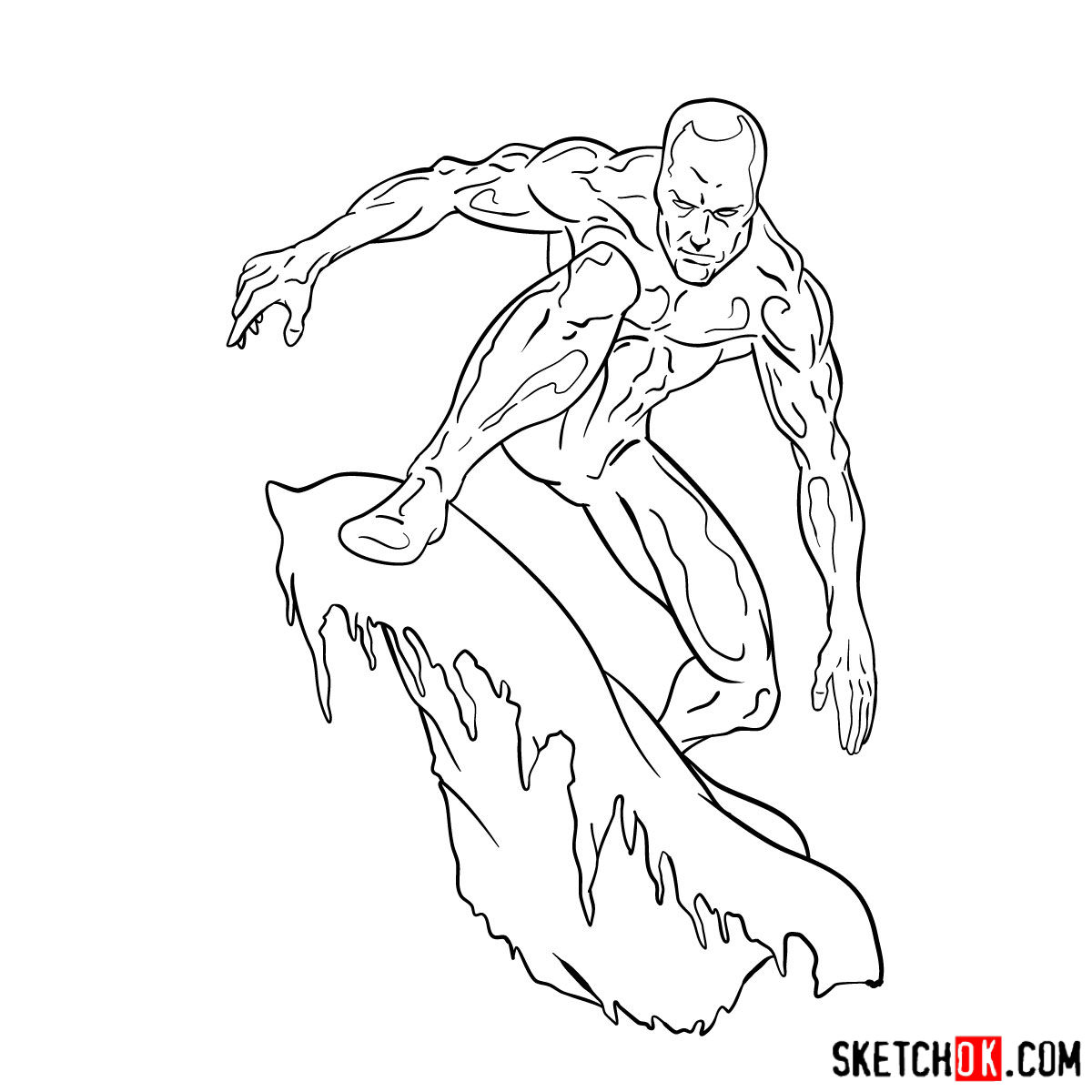 How to draw Iceman - step by step drawing tutorial - step 16