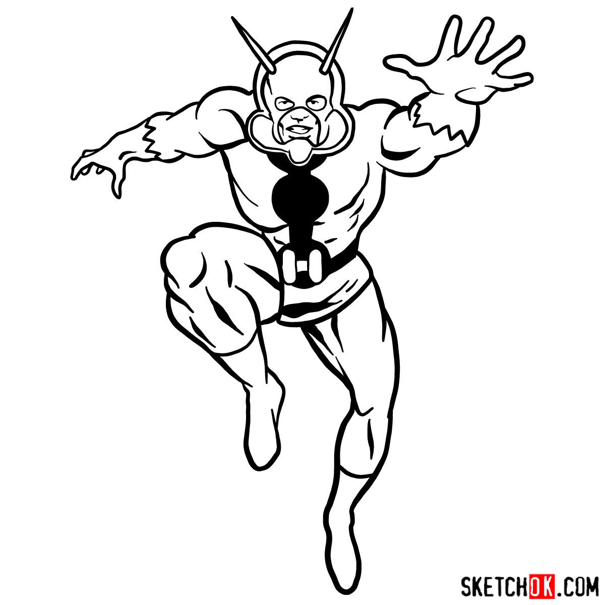 how to draw ant man hank pym step by step drawing tutorials