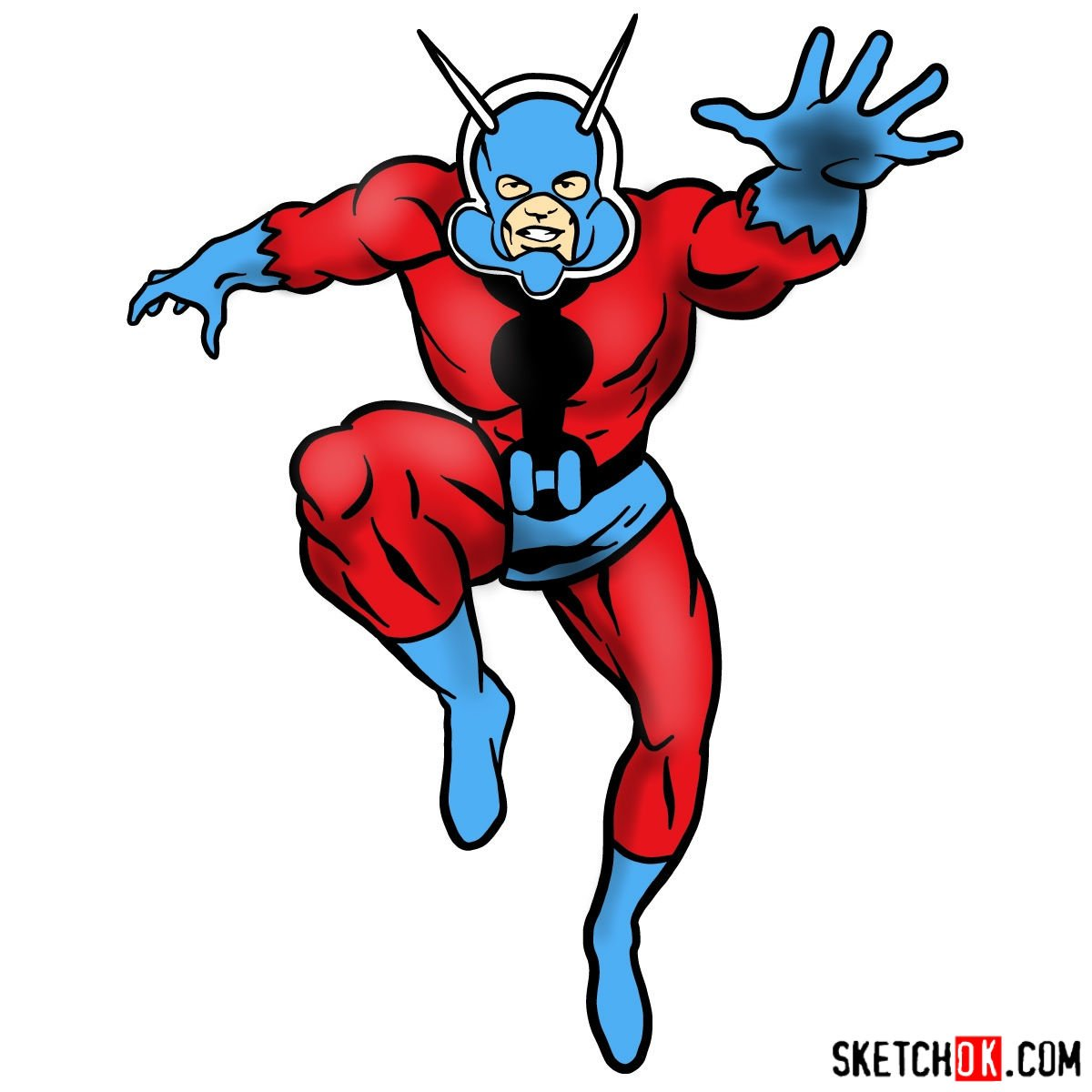 How to draw Ant-Man (Henry Pym) - coloring