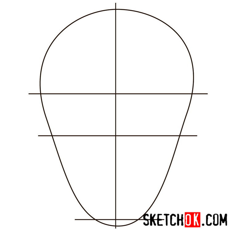 How to draw the logo of Deadshot - step 01