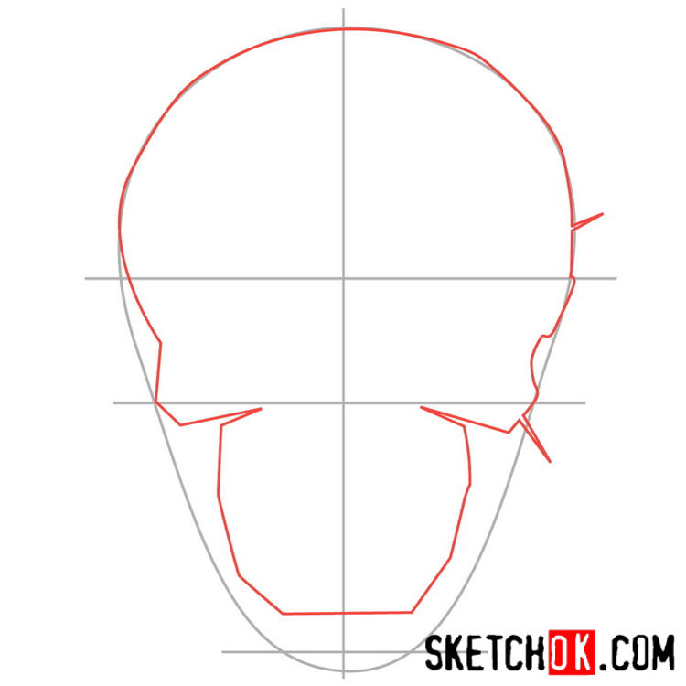 How to draw the logo of Deadshot - step 02