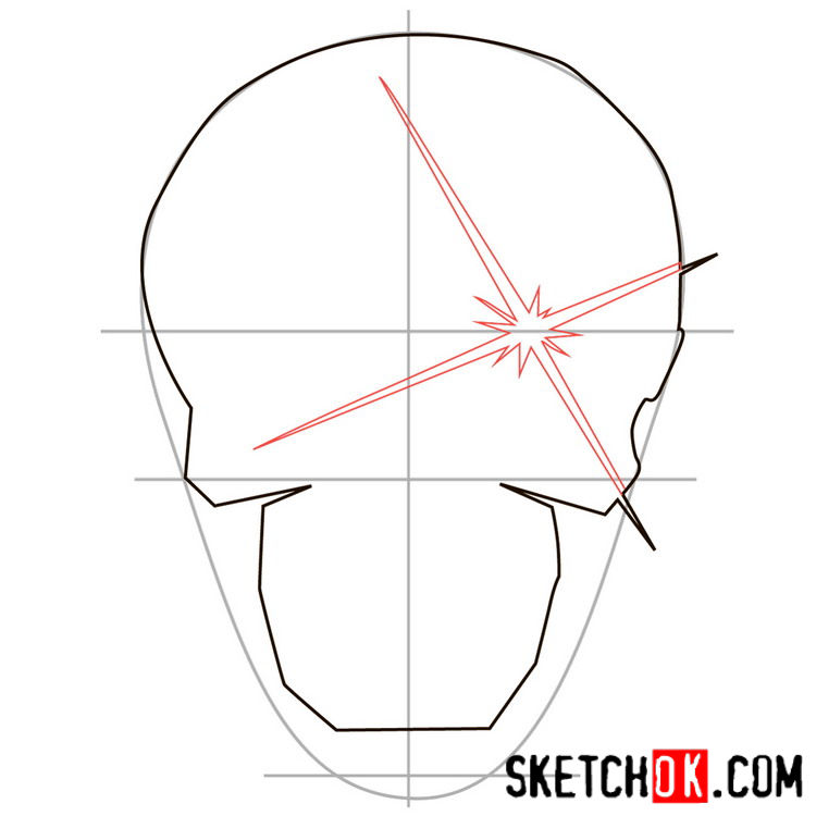 How to draw the logo of Deadshot - step 03