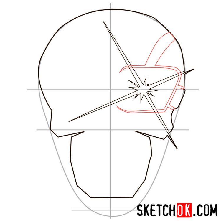 How to draw the logo of Deadshot - step 04
