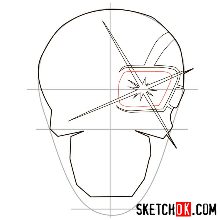 How to draw the logo of Deadshot - step 05