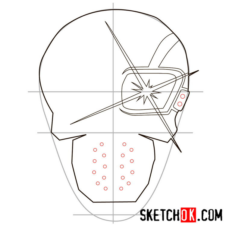 How to draw the logo of Deadshot - step 06