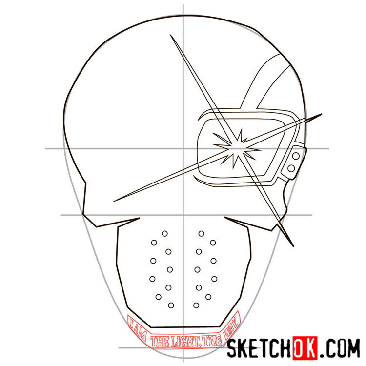 How to draw the logo of Deadshot - step 07