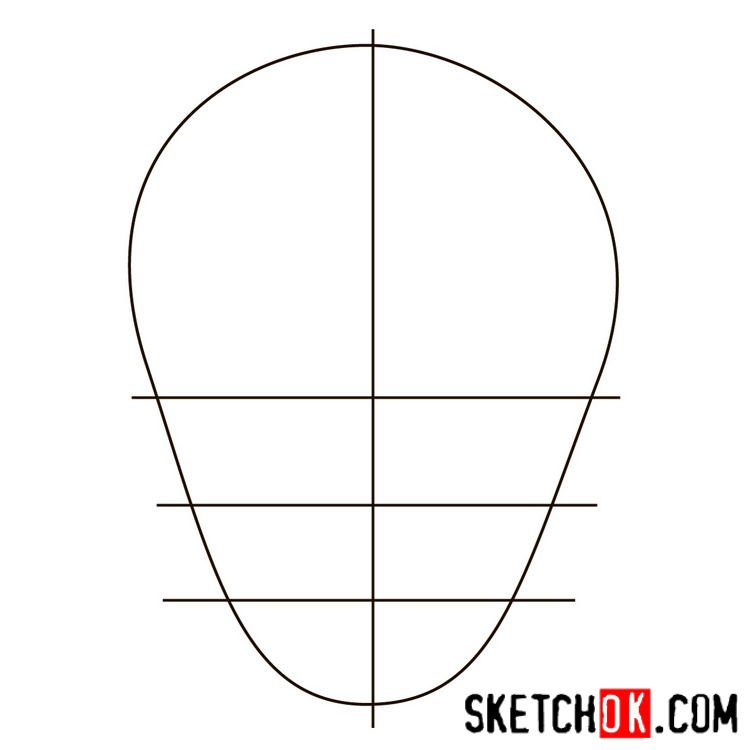 How to draw the logo of Slipknot (DC) - step 01