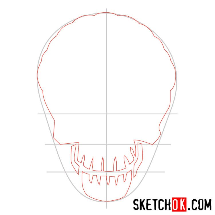 How to draw the logo of Slipknot (DC) - step 02