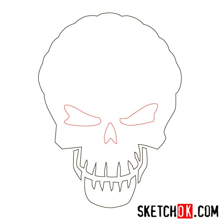 How to draw the logo of Slipknot (DC) - step 03