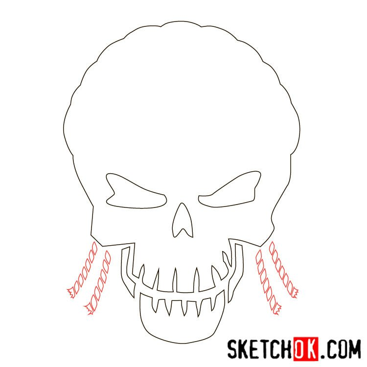 How to draw the logo of Slipknot (DC) - step 04