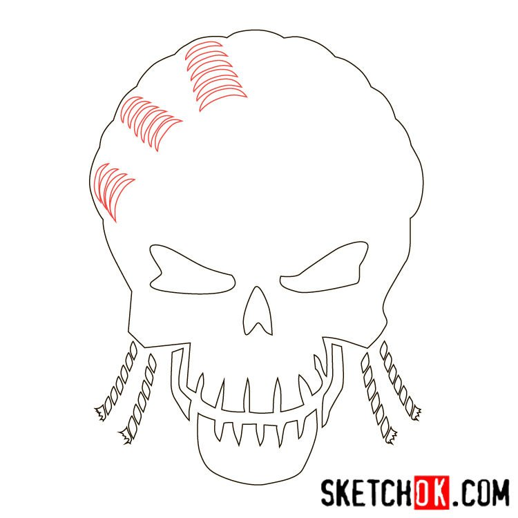 How to draw the logo of Slipknot (DC) - step 05