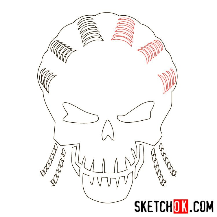 How to draw the logo of Slipknot (DC) - step 06
