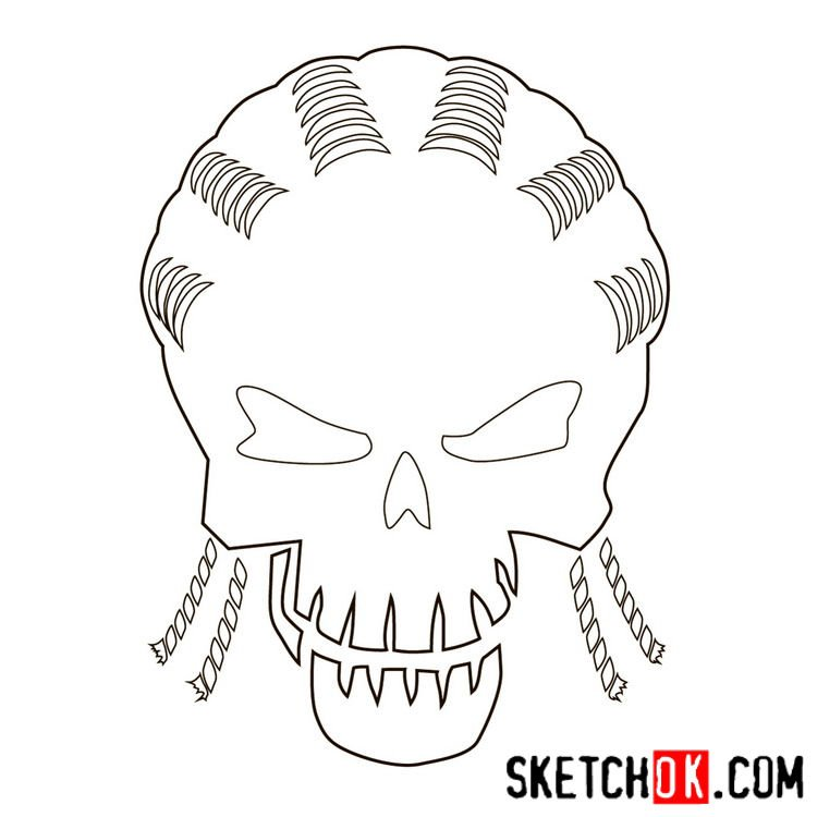 How to draw the logo of Slipknot (DC) - step 08