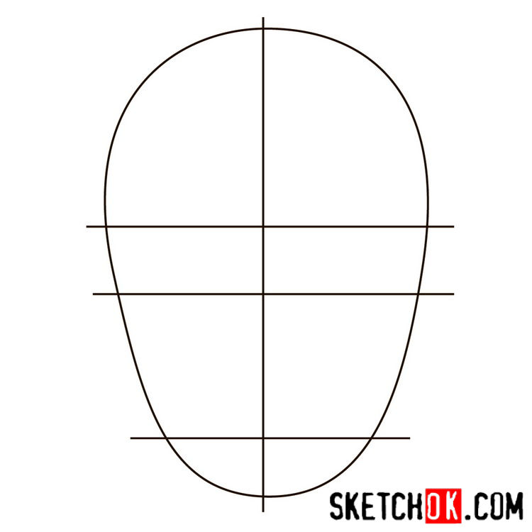 How to draw the logo of Killer Croc - step 01