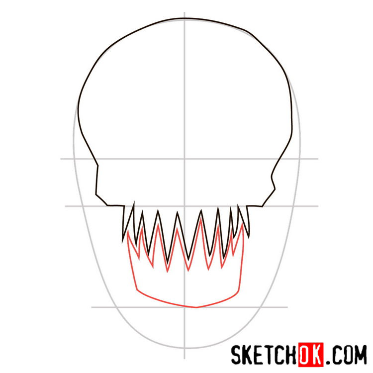 How to draw the logo of Killer Croc - step 03