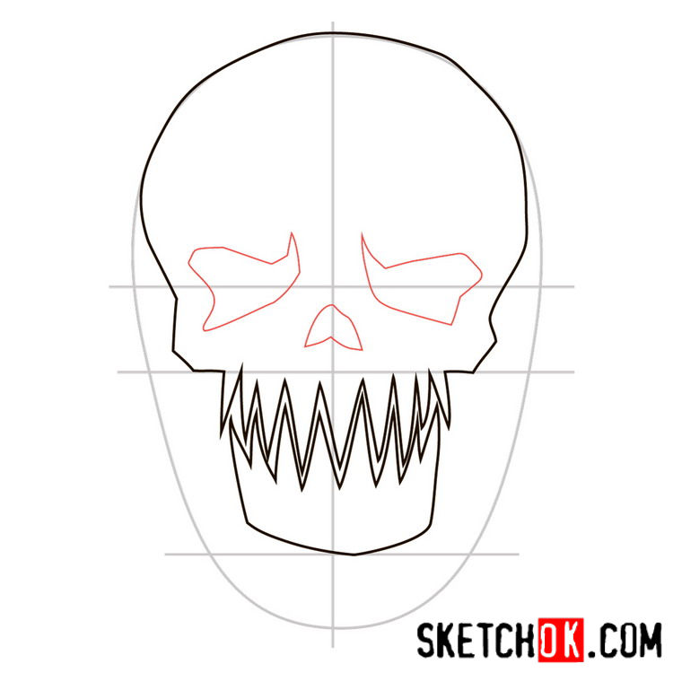 How to draw the logo of Killer Croc - step 04