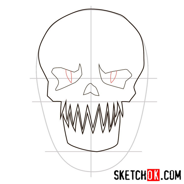 How to draw the logo of Killer Croc - step 05