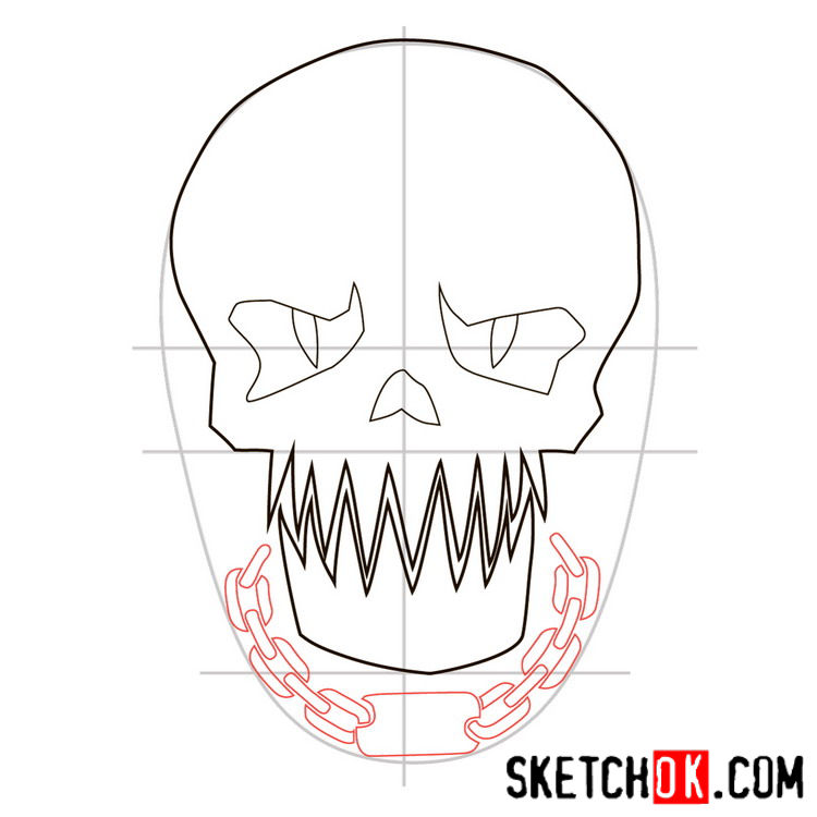 How to draw the logo of Killer Croc -  step 06