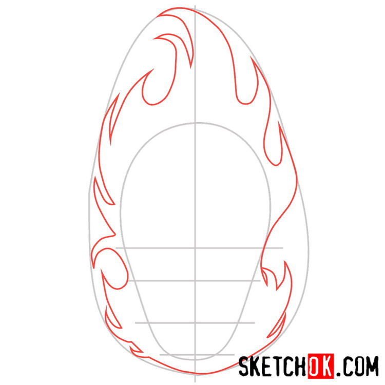 How to draw the logo of El Diablo - step 02