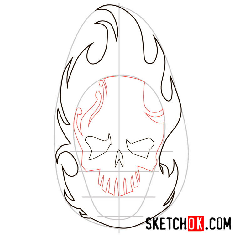 How to draw the logo of El Diablo - step 03