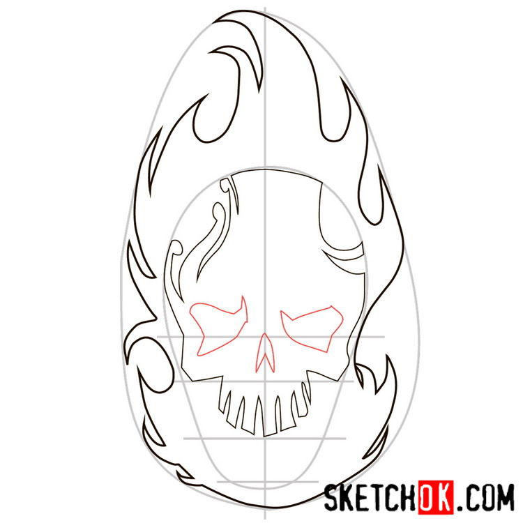 How to draw the logo of El Diablo - step 04