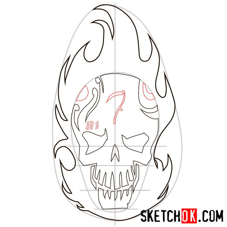How to draw the logo of El Diablo - step 06